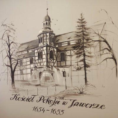 Rysunek Kościoła Pokoju w Jaworze