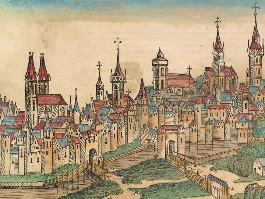 Śreniowieczne ryciny miast