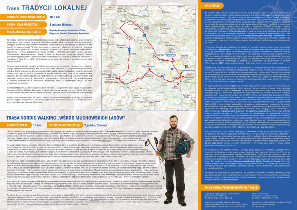 Trasy rowerowe dokoła Jawora - ulotka